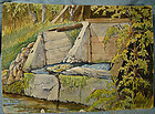 GEORGE S CULLEY WATERCOLOUR PAINTING - Credit River
