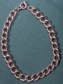 Vintage STERLING CURB LINK CHARM BRACELET c1970s