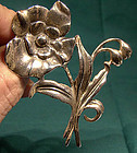 1940s DANECRAFT STERLING FLOWER PIN