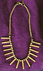 MONET JEWELERS ART DECO GP NECKLACE c1930s