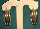 STERLING and 10K GOLD HOOP EARRINGS