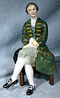 Doulton A GENTLEMAN FROM WILLIAMSBURG HN2227 FIGURINE