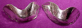 Pair STERLING SILVER BOOT TOE TIPS