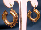 Late Victorian GP PIERCED EARRINGS c1890-1900
