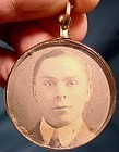 Edwardian 9K HAIR & PHOTO LOCKET PENDANT 1903