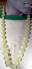 Vintage CHINESE SERPENTINE JADE GRADUATED BEAD NECKLACE
