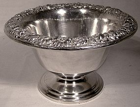 KIRK STERLING REPOUSSE NUT or CANDY FOOTED BOWL