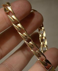 10K Yellow Gold FLAT LINK BRACELET