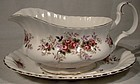 Royal Albert LAVENDER ROSE GRAVY BOAT & UNDERPLATE