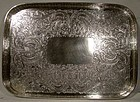 Ornate English SP GALLEY DRINKS TRAY c1910
