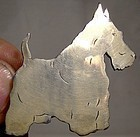 Vintage SCOTTISH TERRIER SCOTTIE STERLING SILVER PIN