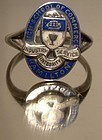 HAMILTON ONT HIGH SCHOOL OF COMMERCE ENAMEL SCHOOL RING