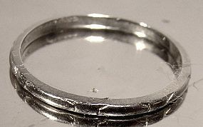 Art Deco 14K WHITE GOLD ART DECO WEDDING BAND c1920-30