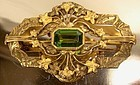 Superb GILT BRASS CRYSTAL STONE SASH PIN c1900