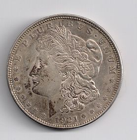 1921 U.S. SILVER MORGAN $1 ONE DOLLAR COIN EF