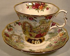 R. Albert OLD COUNTRY ROSES 25th ANNIVERSARY CUP/SAUCER