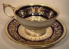 Scarce Aynsley SEVILLE 6874 COBALT & GOLD CUP & SAUCER