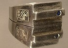 Unusual ROYAL BANK OF CANADA STERLING 7 SAPPHIRE RING