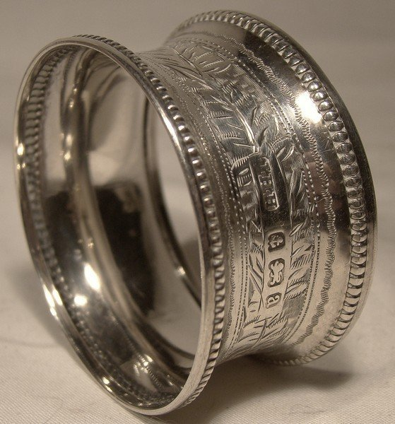Fancy STERLING SILVER NAPKIN RING  - Birmingham 1900