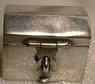MEXICAN STERLING TRUNK SHAPED PILLBOX c1980