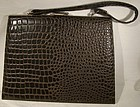 Vintage Alligator Handled Purse c1940s-50s