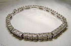 Sterling Silver Genuine Diamonds Tennis BRACELET 1980s