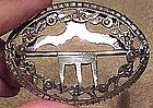 19thC DUTCH STERLING SILVER BELT BUCKLE c1864