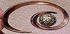 MATISSE-RENOIR COPPER & ENAMEL SPIRAL BROOCH