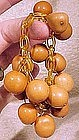 Cool 1930s APPLE JUICE CELLULOID & NUT BRACELET