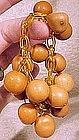 Cool 1930s APPLE JUICE CELLULOID & NUT BRACELET