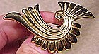 Fine RETRO GILT STERLING BROOCH c1940s