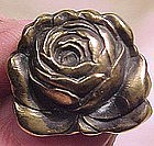 Art Nouveau GILT STERLING ROSE PIN c1895