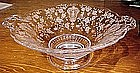 "Elegant Glass ROSEPOINT 7"" KEYHOLE LOW COMPORT"