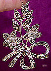 Attractive STERLING MARCASITE FLORAL SPRAY BROOCH c1940