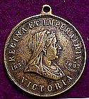 VICTORIA DIAMOND JUBILEE 1897 BRASS WATCH FOB