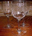 Bohemia QUEEN'S LACE ETCHED WINE GLASSES