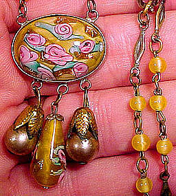Vintage MURANO GLASS SAUTOIR NECKLACE c1920s