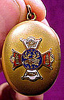 GF INDEPENDENT ORDER OF FORESTERS PHOTO LOCKET c1900-10