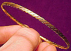 Elegant 14K MULTI-COLOUR GOLD BANGLE 7.4 Grams