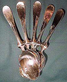 6 CHRISTOFLE S.P. DESSERT or SOUP SPOONS