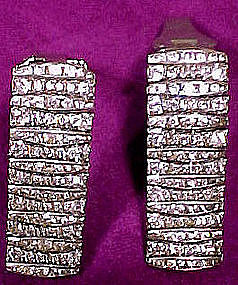 Pair ART DECO GERMAN RHINESTONE DRESS CLIPS c1920s