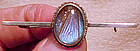 Sterling BUTTERFLY WING BAR PIN c1900-20