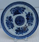 C. 1850 CHINESE EXPORT FITZHUGH BLUE/WHITE PLATE