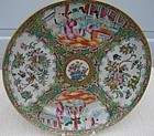 CIRCA 1860 CHINESE EXPORT ROSE MEDALLION  PLATE 9 5/8