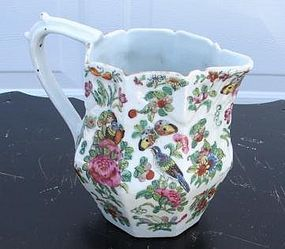 CIRCA 1870 CHINESE EXPORT ROSE CANTON PITCHER 7