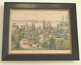 CIRCA 1860 CURRIER & IVES LITHOGRAPH, NEW YORK BAY
