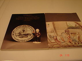 TWO SOTHEBY'S CATALOGS CHINESE EXPORT/ENGLISH