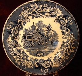 C.1900 ENGLISH TRANSFERWARE STAFFORDSHIRE PLATE