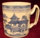 C. 1840 CHINESE EXPORT BLUE CANTON MUG/TANKARD