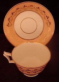 C.1800 WORCESTER TEA CUP AND SAUCER